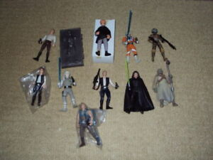 STAR WARS: THE POWER OF THE FORCE, 10 ACTION FIGURES, COMPLETE