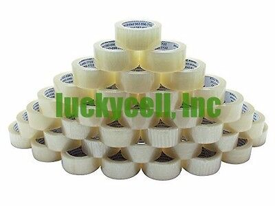18 Rolls Clear Box Carton Sealing Packing Tape Shipping - 2 Mil 2 X 110 Yards