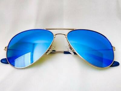 Moni Shades – Baby Blue Lens Aviator Sunglasses with Polarized, Mirrored Lens