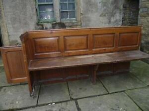 church pew antiques ebay. Black Bedroom Furniture Sets. Home Design Ideas
