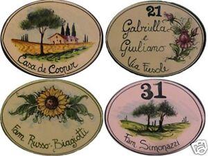 Numero-civico-19x13-targa-ceramica-insegna-mattonella-ovale-CON-DISEGNO