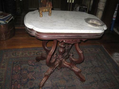 Victorian Marble Top Table Ebay