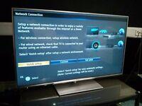 "Panasonic TXL50E6B Silver 50"" Full HD Smart LED TV with Freeview & WiFi"