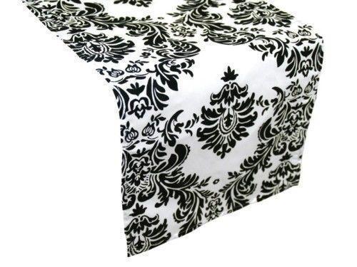 Black And White Table Runner Ebay