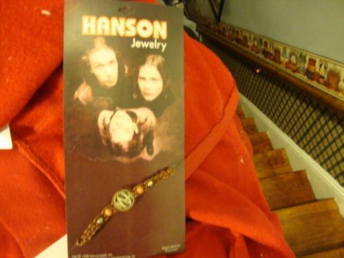 HANSON BROTHERS BRACELET VINTAGE DATED 1998 PLUS BONUS FREE HANSON NECKLACE
