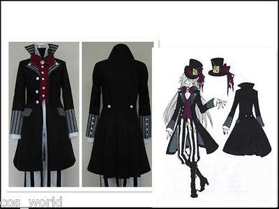 Undertaker Suit (Anime Black Butler Kuroshitsuji Undertaker Uniform Suit Cosplay)
