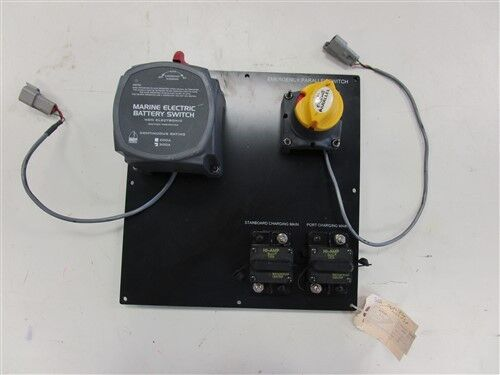 """SWEETWATER 340 BATTERY ASSEMBLY SWITCH PANEL 51544 11 1/2"""" X 11 1/4"""" MARINE BOAT"""