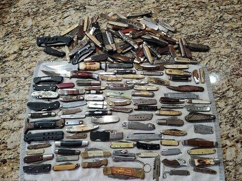 Original Huge Lot Of Vintage Pocket Knives Needle Point Blades, 18lbs