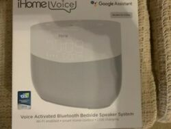 iHome Voice Google Assistant Built-in Chromecast Smart Home Alarm Clock Speaker