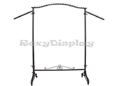 Display Clothes Rack Raw Steel Rolling Garment Rack Ty-906