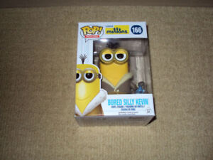 FUNKO, POP, BORED SILLY KEVIN, MINIONS, MOVIES #166 VINYL FIGURE