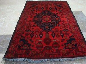Exclusive Afghan Khal Muhamadi Fine Rectangle Area Rug Hand Knotted Wool Carpet (4.11 x 3.2)'