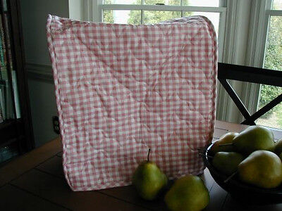 Rose Gingham Appliance Cover fits Kitchen Aid Mixers quilted fabric