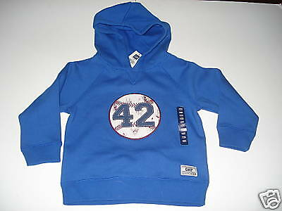 NWT Baby Gap Outlet Blue Hooded Baseball Sweatshirt 4  Baby Gap Outlet
