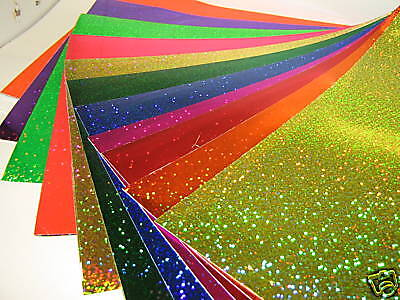 Glittering Sign Vinyl Sample Pack 3 Inch X 4 Inch Sheets Sequins Swatch Book