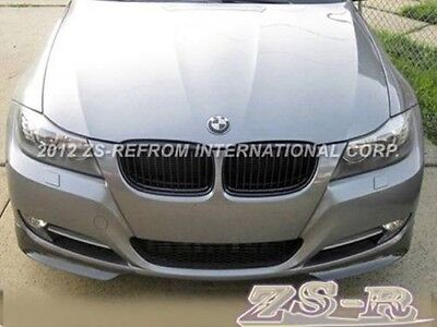 Painted Silver Front Add On Splitter Lip  09-11 BMW E90 LCI 318i 320i 328i 335i