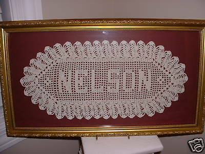 Personalized Crochet Name Doily Wedding Anniversary Baby Personal Gift $6 Letter