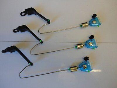 3 x Blue Drop off Bite Indicators. Carp / Coarse Fishing. Slider Weight