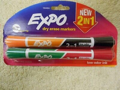 Expo Dry Erase Markers With Chisel Tip 8 Pack Lot 2 In 1 Four Colors
