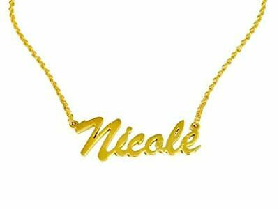 Necklace Name Nicole Stainless Steel Gold Chain/ Cadena con Nombre acero inox segunda mano  Embacar hacia Mexico
