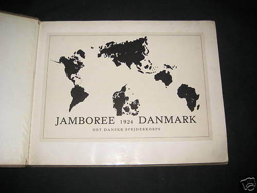 1924 World Jamboree Denmark, jamboree book       de6