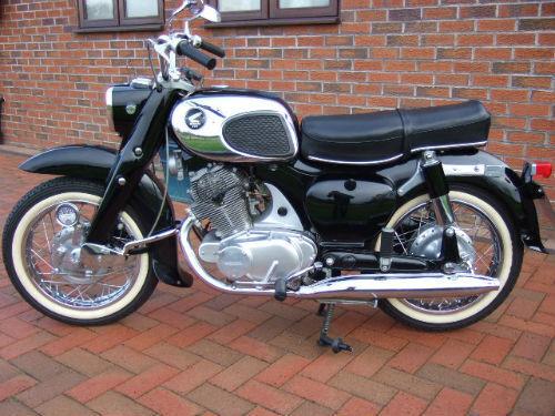 1964 Honda DREAM Motorcycle, Black, Refrigerator Magnet, 40 MIL THICK