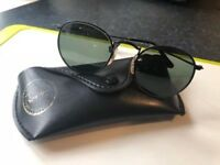 Vintage Ray Ban W1574 Round Metal Black Chrome