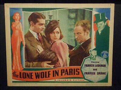 The Lone Wolf In Paris Francis Lederer Frances Drake 1938 orig Lobby Card Fine