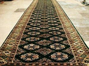 Exclusive Jaldar Green Ivory Touch Wool Hand Knotted Soft Runner Rug (9.9 X 2.5)'