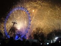 RED ZONE (opp. London EYE Best View) - Fireworks NYE 2017 into 2018 - Cannot be missed