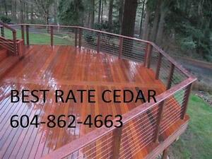 Cedar decking 5/4x4..5..6  stk and clear  Mill direct new 8-16+