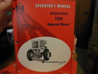 Ih 1200 Balanced Mower Operators Owners Manual International Ihc