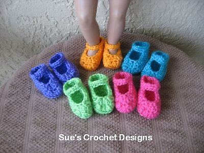 CROCHET DOLL SHOES FOR AMERICAN GIRL AND BITTY BABY - LOT 3