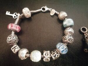 Persona silver bracelet with 15 Charms