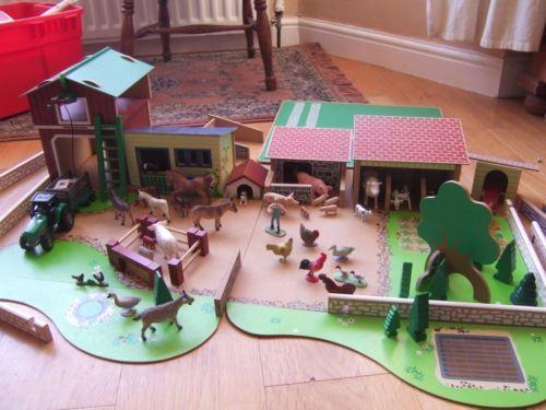Wooden Farm Set Ebay