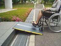 0.70m / 0.85m / 1.25m / 1.65m /2.05m Guldmann Dunslope Lite Glassfibre Portable Wheelchair Ramp