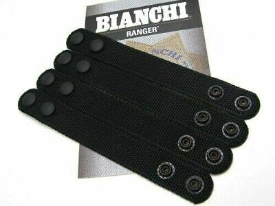 4 Pack Bianchi Belt Keeper Black Nylon Patroltek 1 Wide Black Snaps