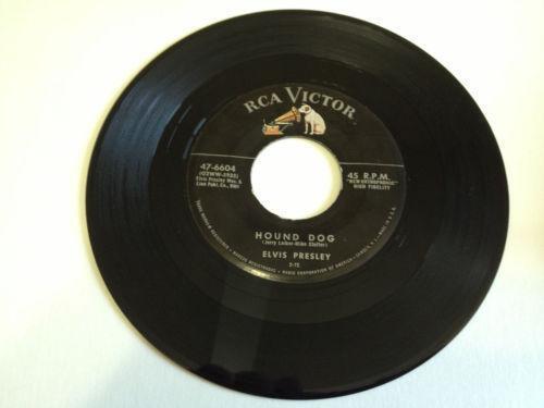 Elvis 45 Record Hound Dog Ebay