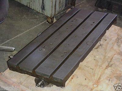35 X 16 Steel T Slotted Table Layout Mazak Vqc-15 W Ball Screw