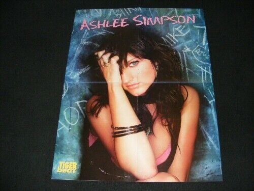 ASHLEE SIMPSON magazine clippings with POSTER