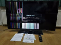 """Samsung 46"""" Smart LED TV - New TV stand, Fully Functional Remote & Broken Screen"""
