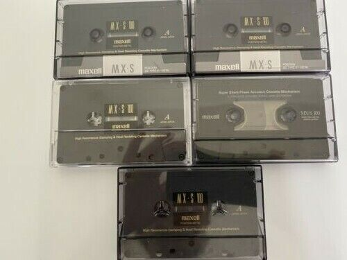 5 MAXELL MXS100 TYPE IV METAL TAPES  MADE IN JAPAN