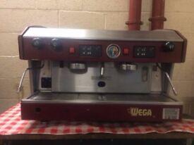 Wega 2-group espresso coffee machine in decent condition