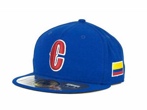 official 2013 wbc colombia world baseball classic fitted