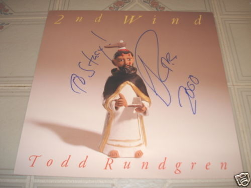 Todd Rundgren Signed Autographed Promo Lp Photo Flat