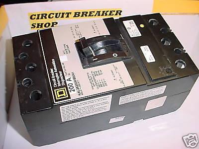 Sq-d 200amp 2 P Breaker Kal26200wb8041 Adjust Trip New