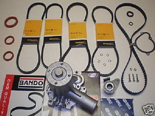 Timing Belt Kit Volvo 240  Series 1986 to 1990 WATER PUMP,DRIVE BELTS, TENSIONER