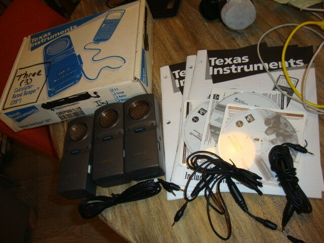 3 Texas Instruments Calculator Based Ranger CBR units w CDs manual cords