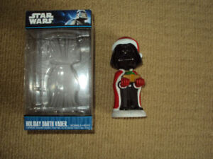 STAR WARS, HOLIDAY DARTH VADER BOBBLEHEAD WITH BOX