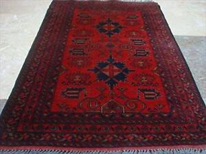 Afghan Khal Muhamadi Exclusive Designed Rectangle Area Rug Hand Knotted Wool Carpet (4.8 x 3.3)'